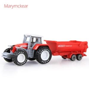 Image 5 - 1個トラクターおもちゃの農民車ミニ車のモデルピックアップおもちゃのための4色トラクターjuguete取り外し可能なダイキャストトラックのおもちゃ