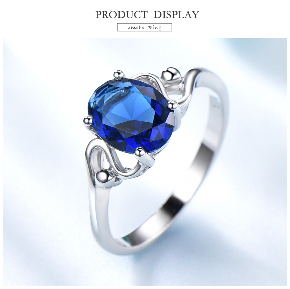 Honyy Sapphire 925 sterling silver rings for women RUJ089S-1-PC (3)