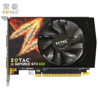 Original ZOTAC Video Cards GeForce GTX650 1GD5 Thunder PA 1GB GDDR5 Graphics Card For NVIDIA Map