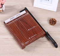 New A5 Paper Photo Cutter Guillotine cutting machine Trimmer Wood Base 5 10 Sheets with Grid