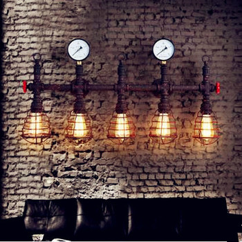 Loft Style Industrial Vintage Wall Lamp LED Edison Lighting Iron Antique Pipe Wall Light Fixtures Arandela Lampara Pared