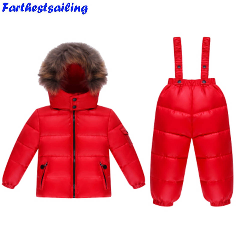 a9ffc58ac 2018 Children Winter Clothing set Boys Ski Suit Girl Down Jacket ...