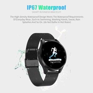 Image 5 - Смарт часы RUNDOING Q9, водонепроницаемые, напоминающие о звонках, умные часы для мужчин, монитор сердечного ритма, модный фитнес трекер