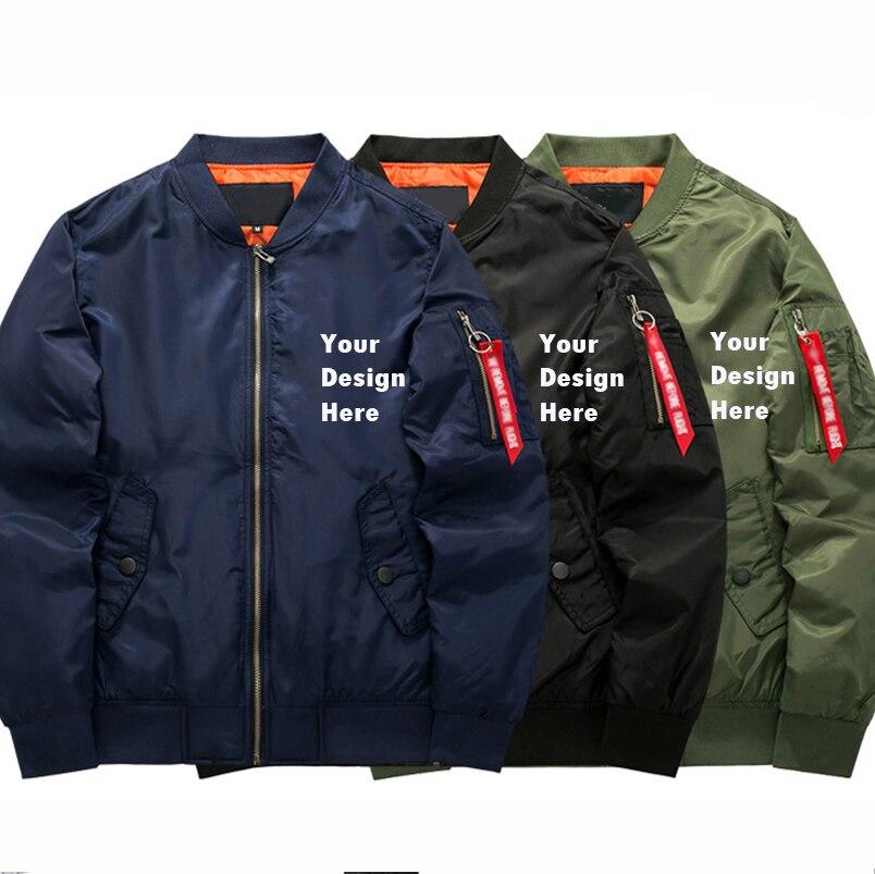 US EU Size Custom Customize Logo Design Print Winter Military Bomber Jackets Men Army Tactical Jacket And Coats Oversized