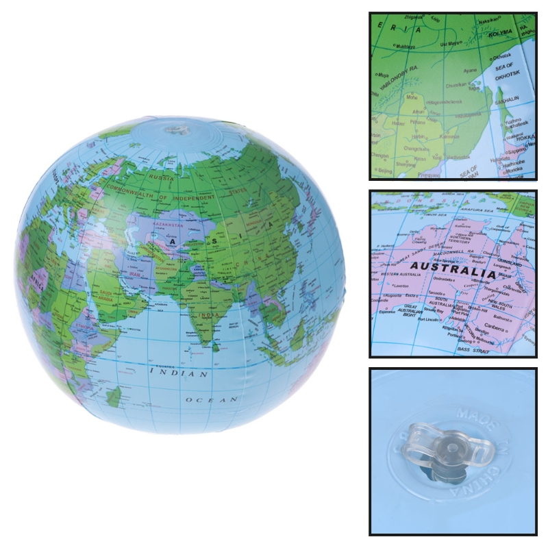 30cm Education Geography Toys Inflatable World Map Globe Balloon