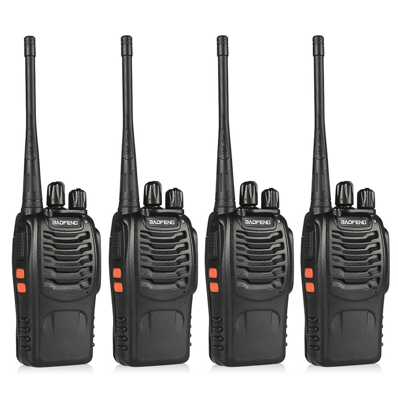UHF400-470MHZ BF-888S 4pcs BaoFeng Walkie Talkie CB Rádio Portátil Presunto baofeng 888s