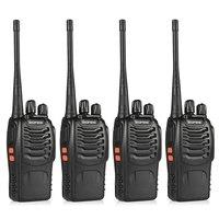 4pcs BaoFeng BF 888S Walkie Talkie UHF400 470MHZ Portable Ham Baofeng 888s CB Radio