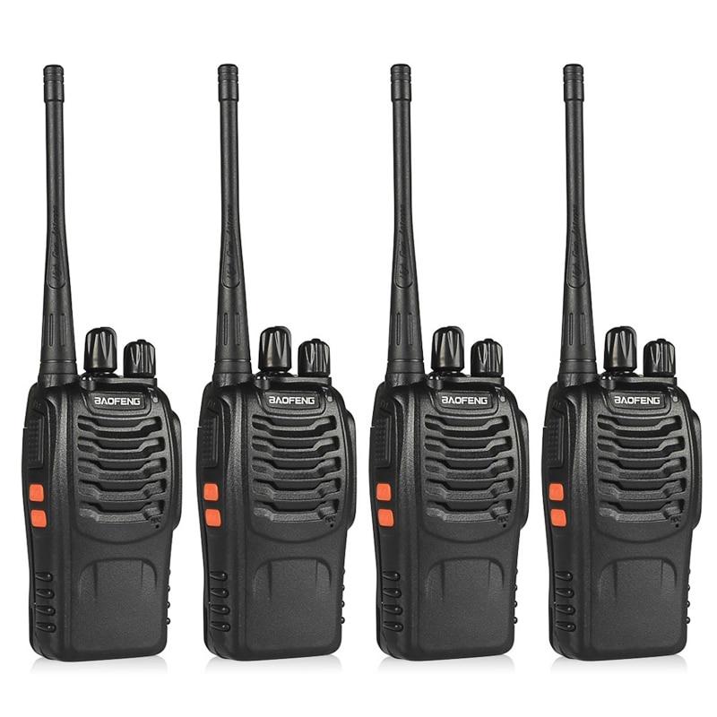 4 pcs BaoFeng BF-888S Talkie-walkie UHF400-470MHZ Portable Jambon baofeng 888 s CB