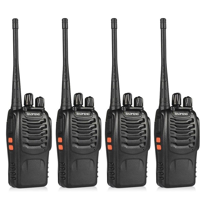4 pz BaoFeng BF Walkie Talkie UHF400-470MHZ Portatile Prosciutto baofeng 888 s Radio CB