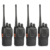 4 unids baofeng bf-888s del walkietalkie uhf400-470mhz radio cb portátil jamón baofeng 888 s