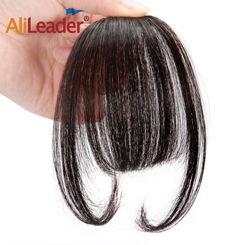 Alileader Clips In Hair Bangs Fringe Hair Extensions Clip On Bang With Two Side Synthetic Hairpieces Protein Fiber Can Be Dyed Наращивание волос
