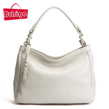BVLRIGA Luxury Handbags Women Bags Designer Genuine Leather Bag Female Bags Handbags Women Famous Brands White