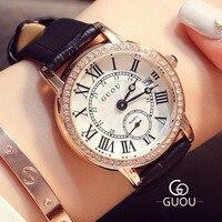 Retro Watch Women Fashion Brand Classic Roman scale Quartz Wristwatch bayan saatleri Women Rhinestone Watches Relogio Feminino