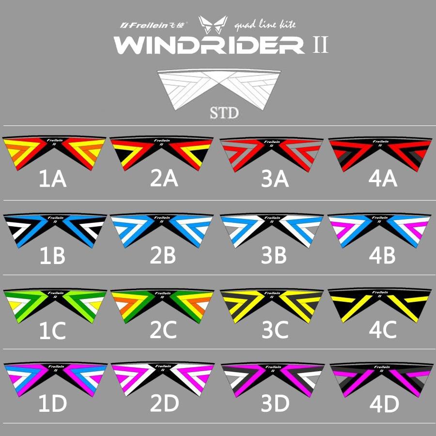 Vente! Quad Line cascadeur cerf-volant 3A 3B couleur 2.42 m Sport de plein air professionnel cerf-volant volant pour spectacle compétition