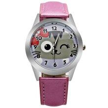 O2 Nueva moda señoras lindas niños cute cat relojes casual ladies relojes relojes de cuarzo relojes gatitos