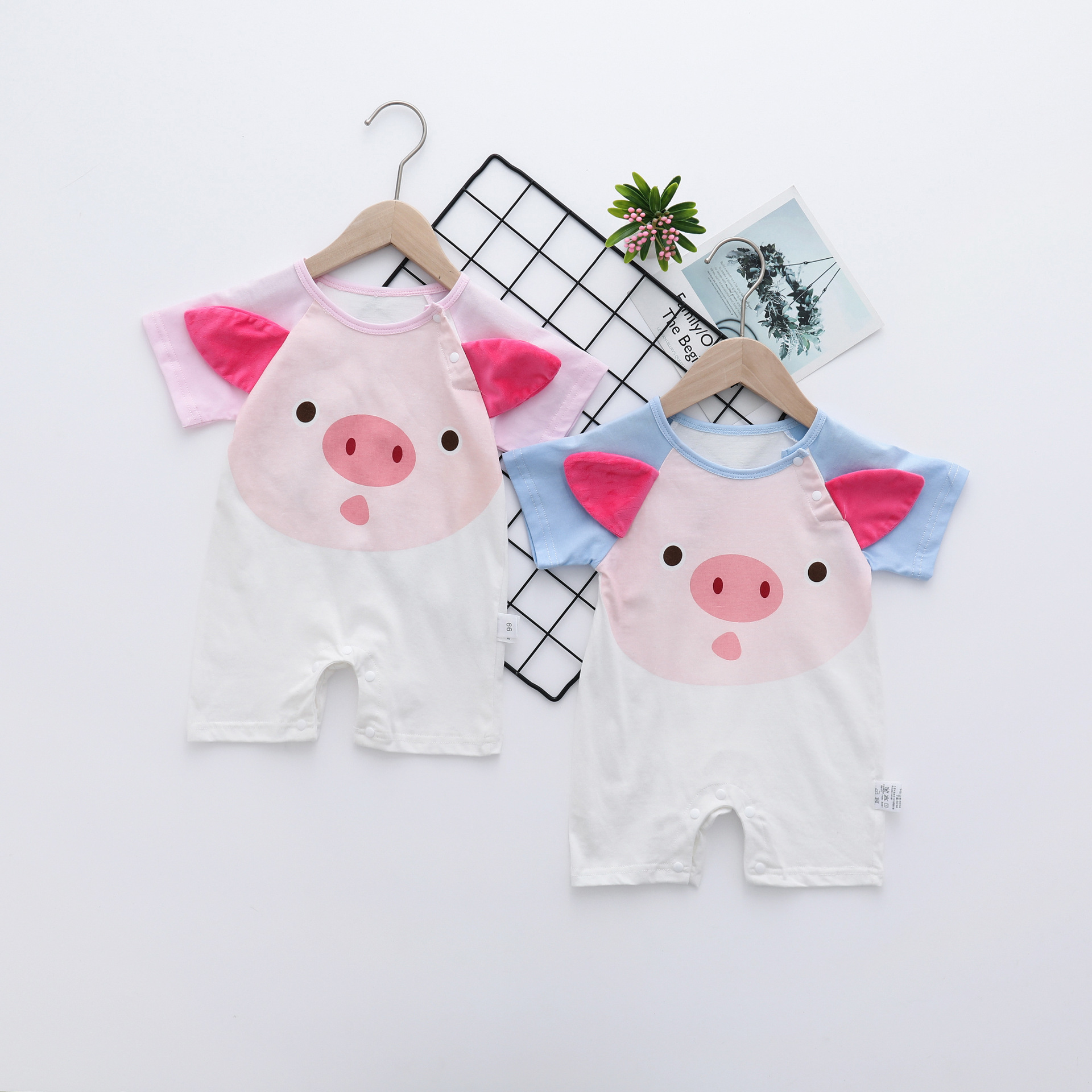 2019 New Cartoon Baby   Rompers   short sleeve baby boys clothes Jumpsuits Roupas Bebes Infant Clothing baby girls clothes