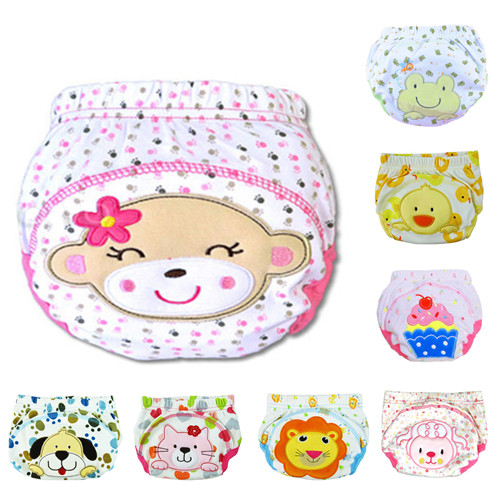 2pcs Pack Baby Training Pants Baby Diaper Reusable Nappy Washable Diapers Cotton Learning Pants Kids Wear QD05
