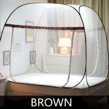 3 Veličine Dvokrevetna komarna mreža za dvokrevetnu sobu, Folding Mongolija Bag Mosquito Mesh, Lace Insekti Odbaciti krevet Šator nadstrešnica mreža