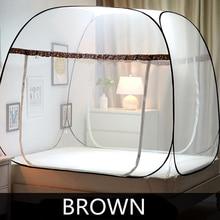 3 Größen Bi-trenn Moskitonetz Für Doppelbett, Falten Mongolei Tasche Moskitonetz, Spitze Insekt Ablehnen Bett Zelt Baldachin Netting
