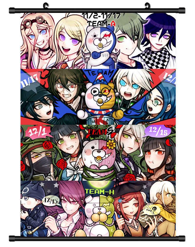Danganronpa Dangan Ronpa HD Print Anime Wall Poster Scroll Room Decor