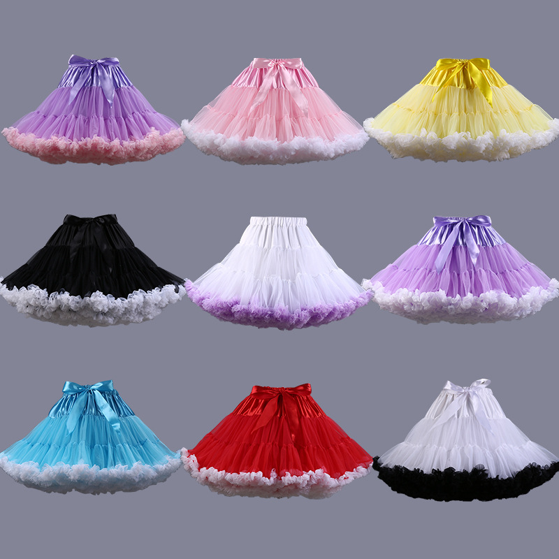Wholesale Multi Color Short Petticoat Cheap Underskirt Jupon Rockabilly Soft Tulle Wedding Petticoats 2016 Wedding Accessories
