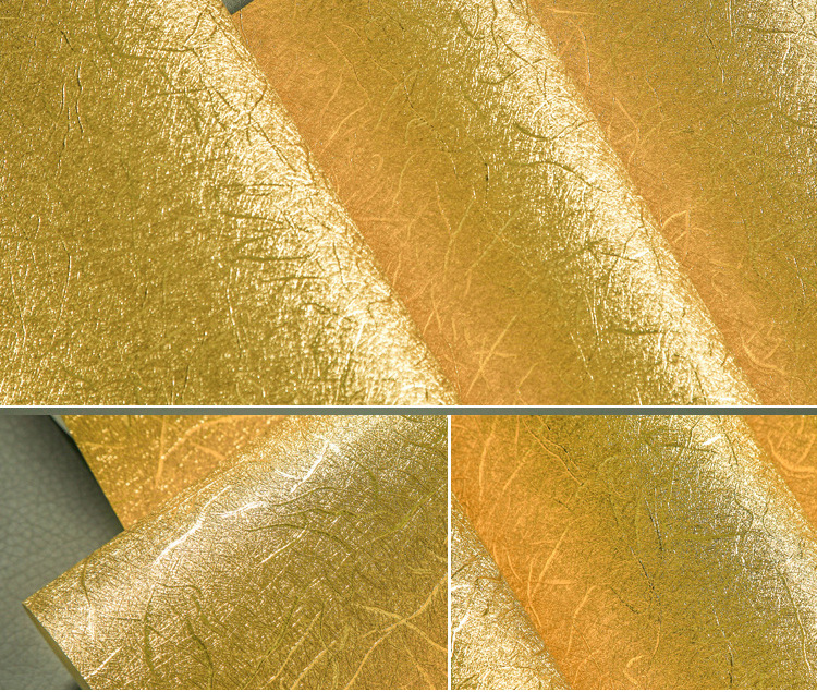 11 yards Or Feuille D'argent Papier Peint Épais Étanche Pvc Autocollants Papier Peint pour Salon Rénovation de Meubles PVC Papier Peint - 3