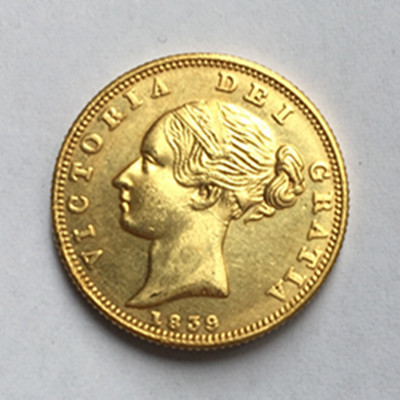 1839 United Kingdom 1 Sovereign Victoria 1st Portrait 9999 Pure Gold Plated Copy Coin In Non Currency Coins From Home Garden On Aliexpress Alibaba
