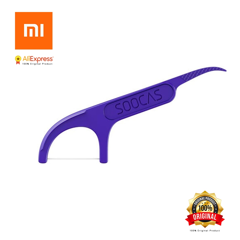Xiaomi Soocas зубочистки зубная нить лента скребок 3 в 1 Xiaomi Soocare Чистящая профессиональная зубная нить 50 шт. зубочистки