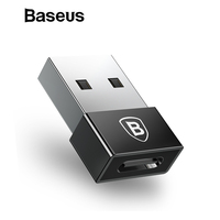 Baseus USB Male to Type C Female Cable OTG Adapter Converter Notebook Type-c Female to USB Male Charger Plug Data OTG Adapter Phone Adapters & Converters