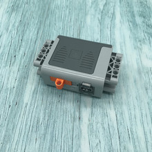 Technic Parts 16511 Electric Power Functions Battery Box 4x11x7 with Orange Switch and Dark Bluish Gray Covers 58119 MOC Blocks