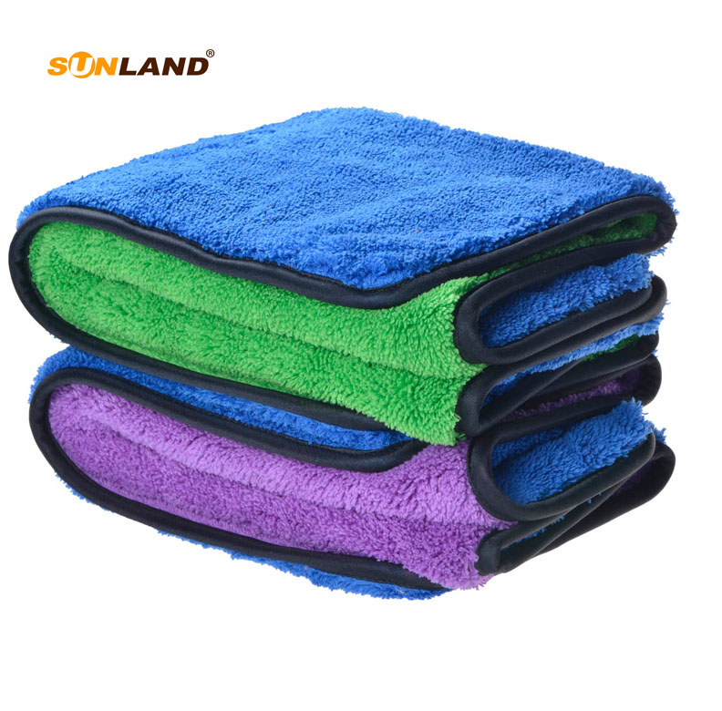 2 PCS  40cmx40cm 720gsm Plush Microfiber Towel High Quality Car Cleaning Towel Cloths