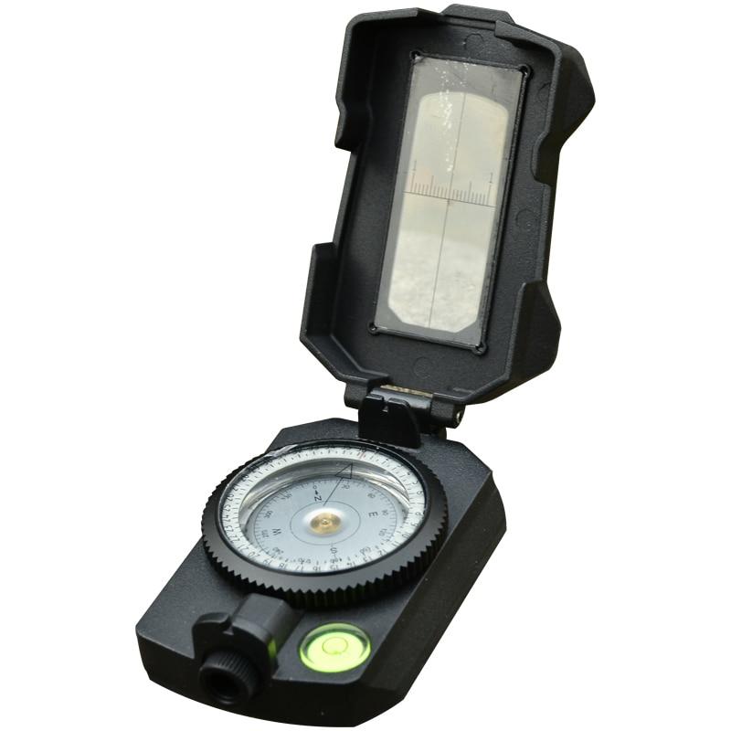 Haute qualité Portable randonnée boussole professionnel militaire clinomètre étanche qualité Camping pointage Guide outils de plein air