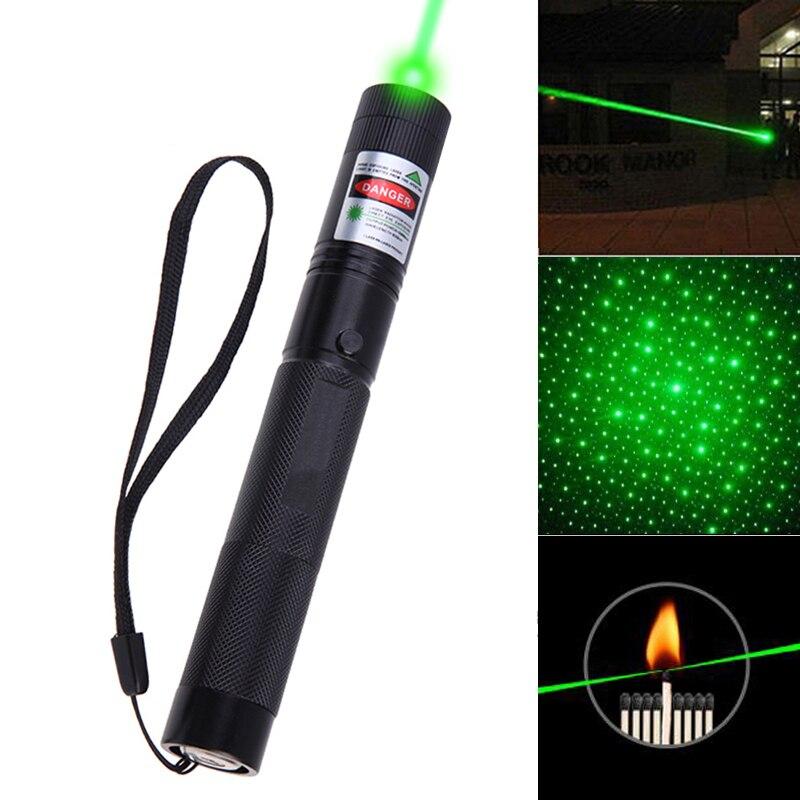 8000-10000 Meter Leistungsstarke Grüne Laserpointer sterne 5 mw Military 532nm Mit Sternkappe taschenlampe Einstellbarer Fokus großhandel
