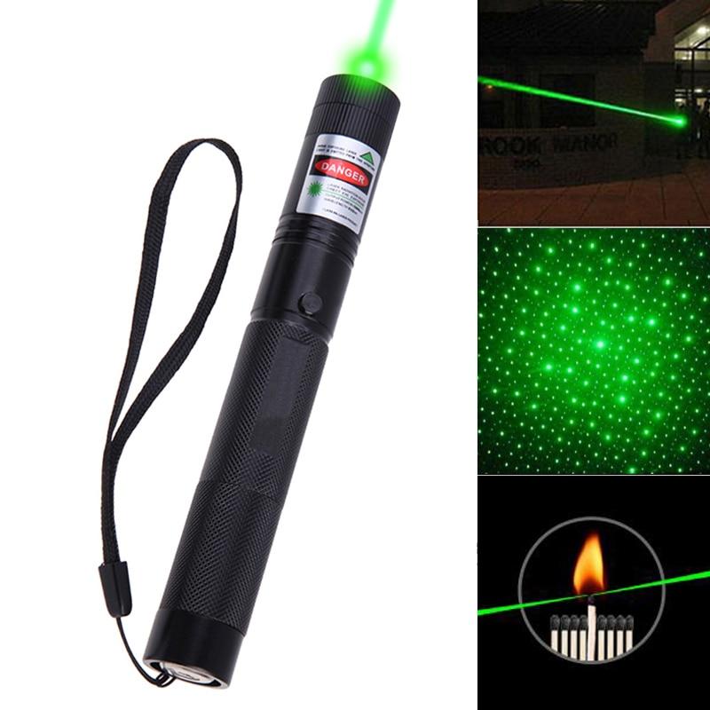 8000-10000 Metri Potente Puntatore Laser Verde stelle 5 mw Militare 532nm Con Tappo Stella torcia elettrica Messa A Fuoco Regolabile all'ingrosso