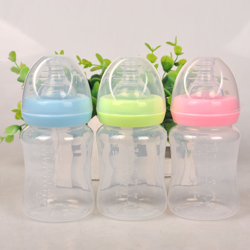 180ml Newborn Baby Feeding Bottle Infant Nursing Milk Fruit Juice Water Cup Children Silicone Nipple Pacifier Bottles