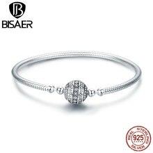 Bransoletka Femme pulsera 925 srebro delikatne życie podstawowy łańcuch Charm bransoletka dla kobiet biżuterii akcesoria DIY prezent