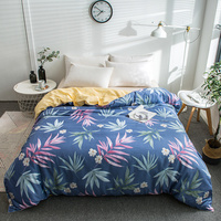 Modern Color Print Cotton Soft Two Sided Bedding Single Quilt Cover Bed Comforter Cover Duvet Cover 220x240cm Size Home Textile