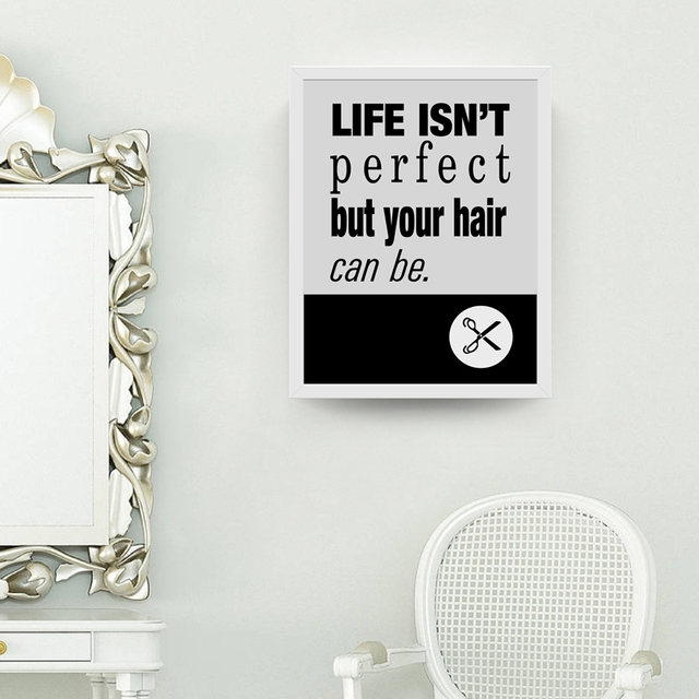 Hairstylist Hairdresser Canvas Art Prints Poster Funny Hair Salon Painting Wall Picture Barber Shop