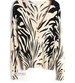 2016 women's fashion knitting autumn print sweater V-neck knitted female's  zebra prints cardigans