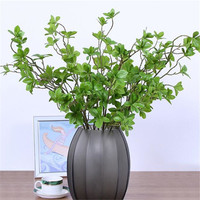 7Pcs Real touch Artificial tree branches fake green plant leaves for flower arrangement DIY home wedding decoration faux foliage