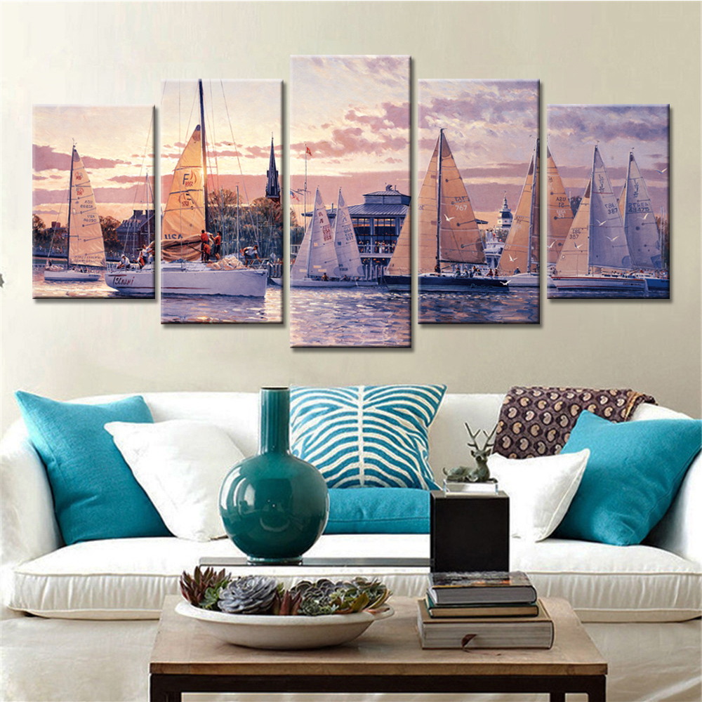 Tableau Wall Art HD Printed Pictures Canvas 5 Piece/Pcs