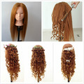 """24"""" Training Head Cosmetology Mannequin Heads mannequin head for makeup practice dummy real hair mannequin head cabeza maniqui"""