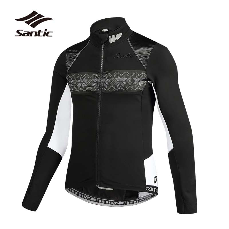 SANTIC Autumn Winter Cycling Jacket Men Long Sleeve Warm Ropa Ciclismo Road Mountain Bike Jacket Windproof  Bicycle Jacket : 91lifestyle