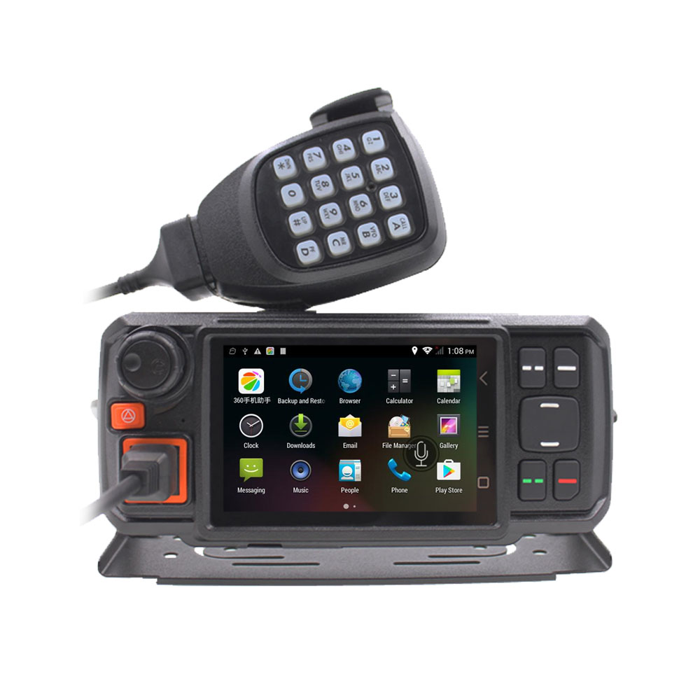 Android Network Transceiver 850/1900MHz GPS Walkie Talkie SOS Radios Bluetooth Car Radio 3G W2 Mobile Radio With SIM Card