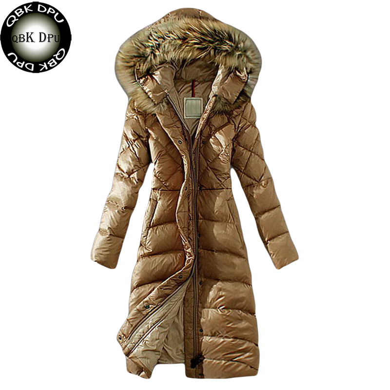 Women Casual Big Fur Collar Winter Long Parkas 2018 Fashion Plus Size Hooded Cotton Padded Jacket Windproof Thick Outwear Coat