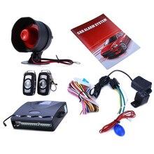 Универсальный 12 В автосигнализации Системы один способ автомобиля Защита от взлома защиты безопасности Системы с 2 Дистанционное управление Авто охранной