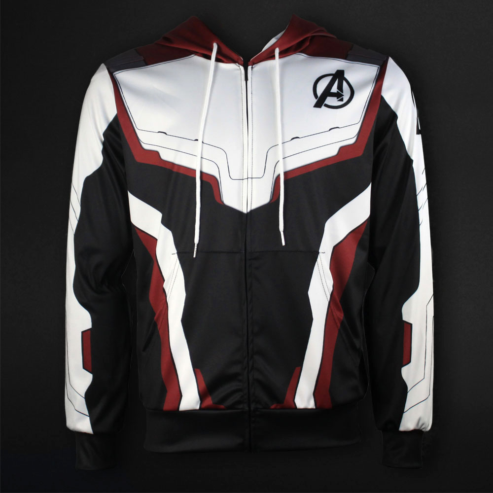 Men Women Avengers Endgame Realm Cosplay Hoodies 3D Pullover Sweatshirt Quantum Realm Superhero Zipper Jacket Costumes4