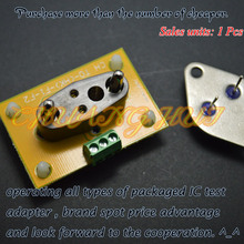 Detect HK-F1 With PCB test socket No welding can be wiring aging block Iron seal transistor