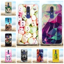 For Alcatel 1X 2019 Phone Case Slim Soft TPU Silicone Cover Geometric Patterned Funda