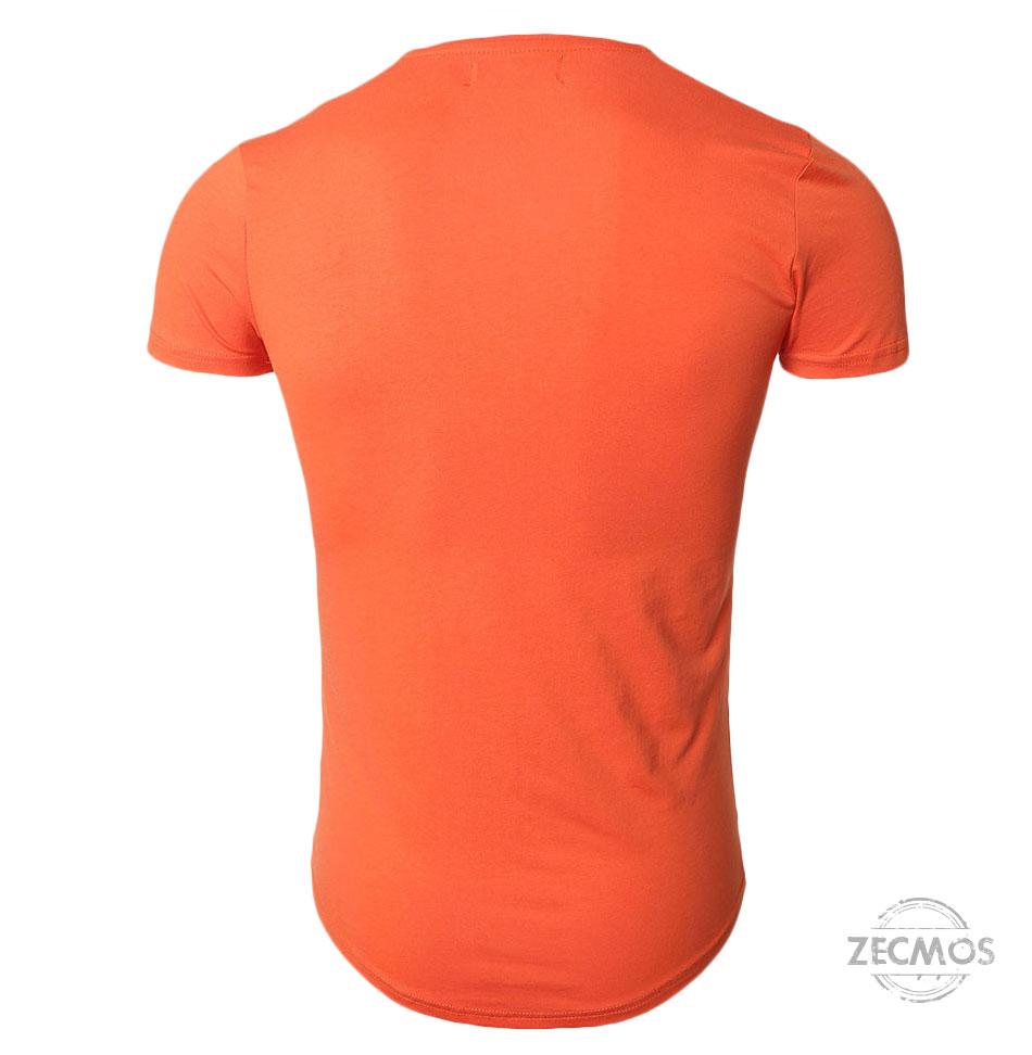 Zecmos Deep V Neck Sexy Men T-Shirt Vintage Short Sleeve Solid Color Muscle Fit T Shirt Men Top Tees Fashion 25